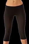 Damen Fitness 3/4 Hose schwarz