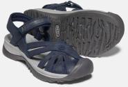Rose Sandal Leather W Black navy